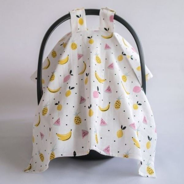 Picture of Fruit Muslin Stroller Cover