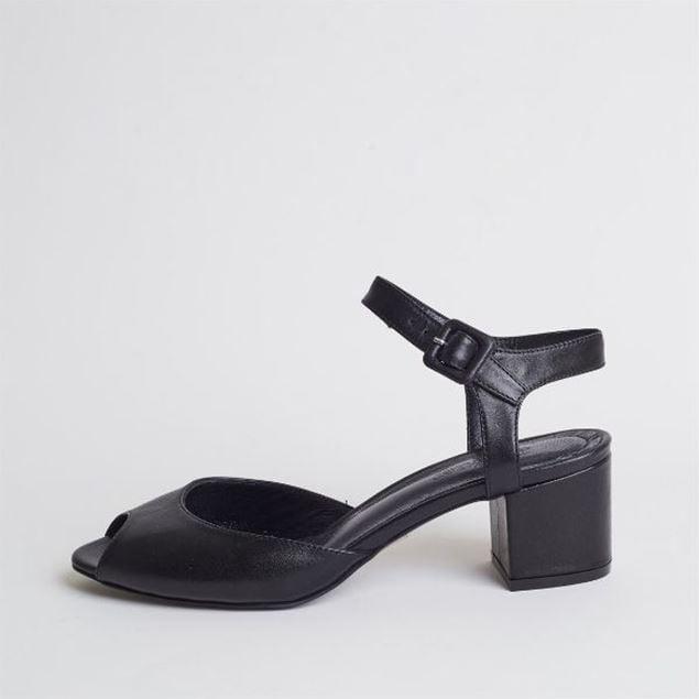 الصورة: Jabotter Alanis Black Leather Heeled Sandals