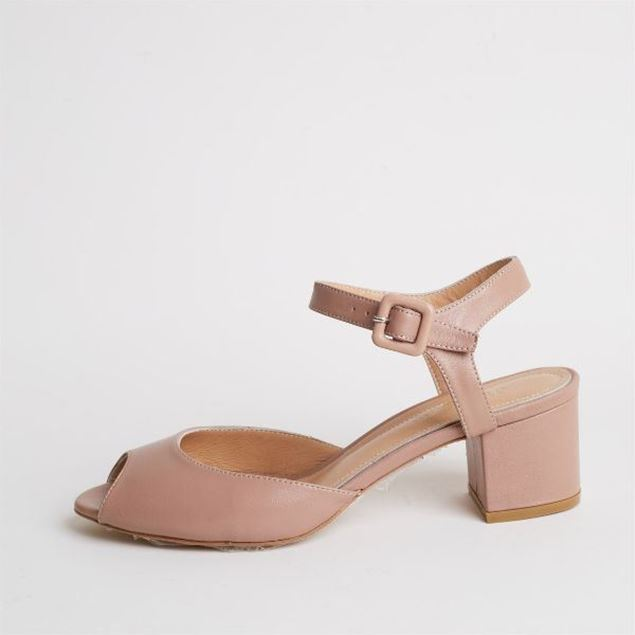 الصورة: Jabotter Alanis Caramel Leather Heeled Sandals