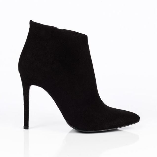 Picture of Jabotter Clarita Black Suede Heeled Boots