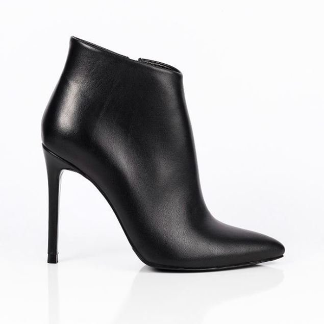 Picture of Jabotter Clarita Black Leather Heeled Boots