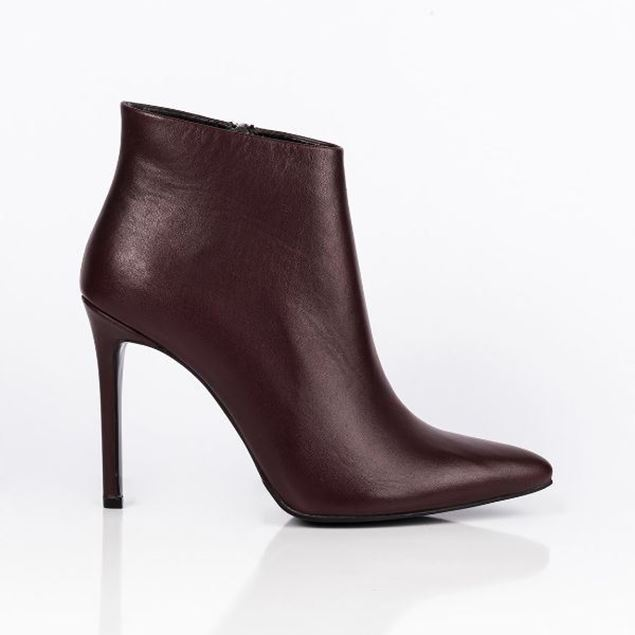 Picture of Jabotter Clarita Burgundy Leather Heeled Boots