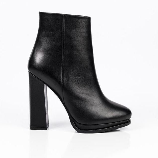 Picture of Jabotter Cherly Black Leather Platform Heeled Boot