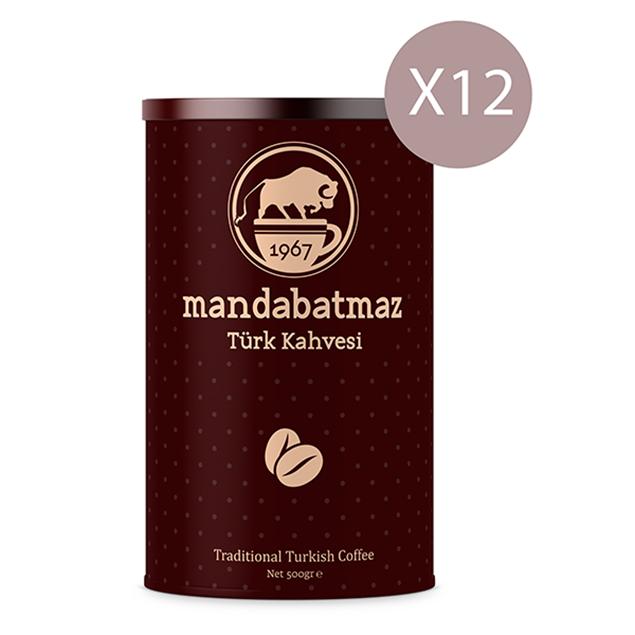 الصورة: منداباتماز قهوة تركية 250 جرام - 12 قطعة