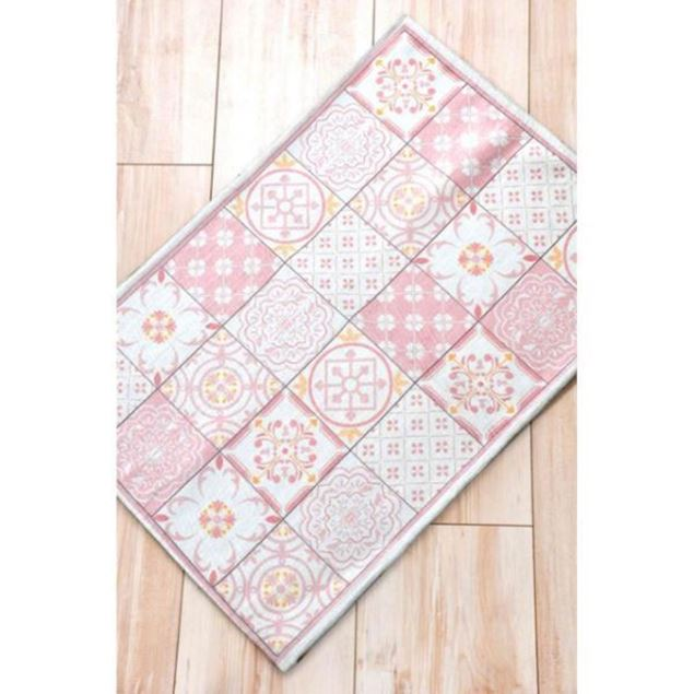 Picture of Tile Patterned Mat 100 * 70 Cm - Pink