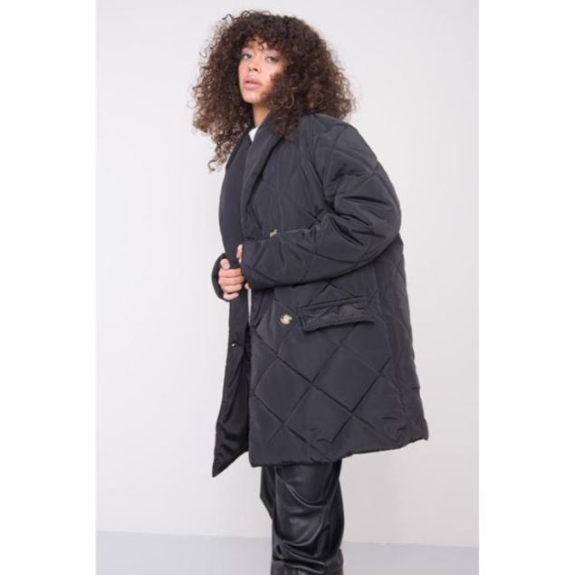 Picture of Shawl Collar Detailed Puff Coat