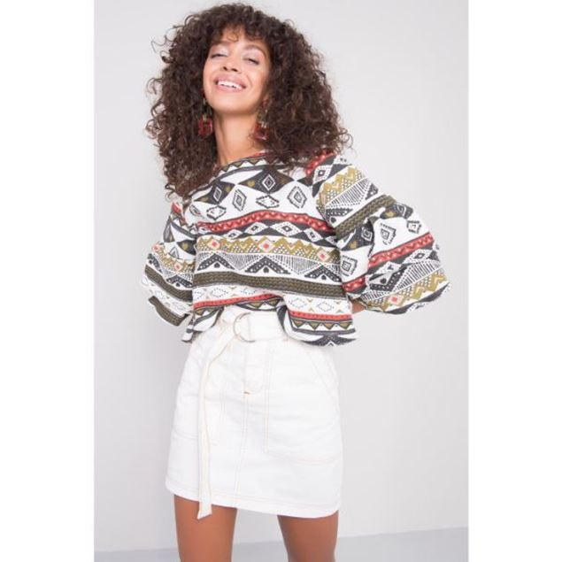 Picture of Ethnic Patterned Blouse