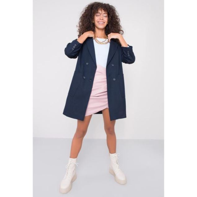 Picture of Double Breasted Closure Long Jacket