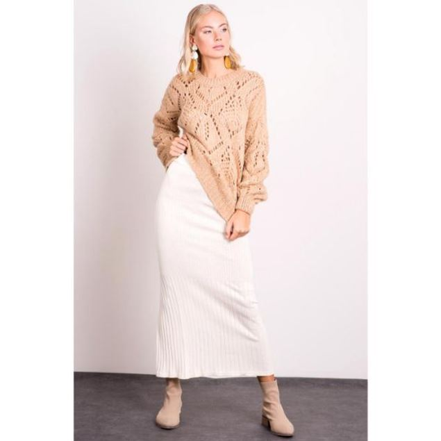 Picture of Knitwear Tight Midi Skirt