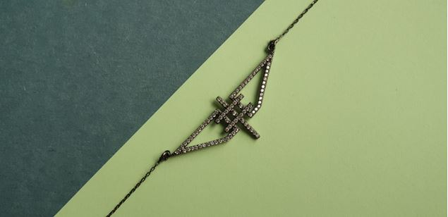 Picture of Geometric Silver  Necklace