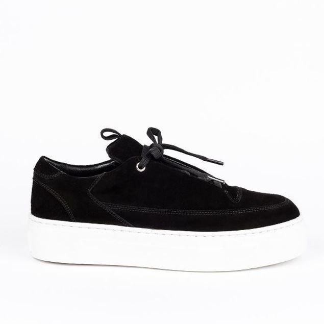 Picture of Jabotter Swan Black Suede  Sneakers