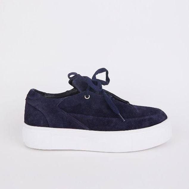Picture of Jabotter Swan Navy blue suede Sneakers
