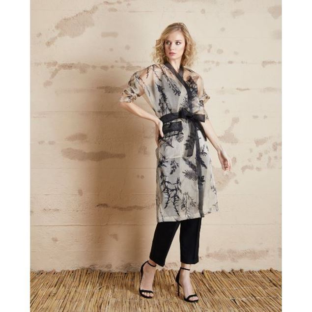 Picture of Floral Patterned Organza Long Jacket