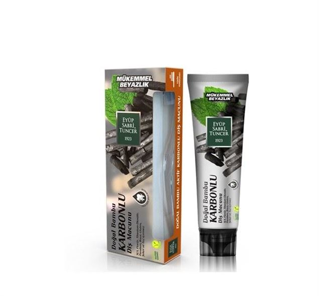 Picture of Toothpaste with charcoal and mint