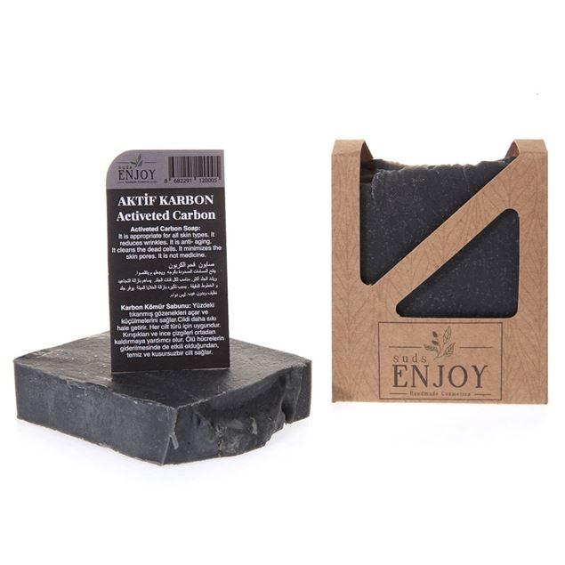 الصورة: صابون صناعة يدوية   فحم الكربون
