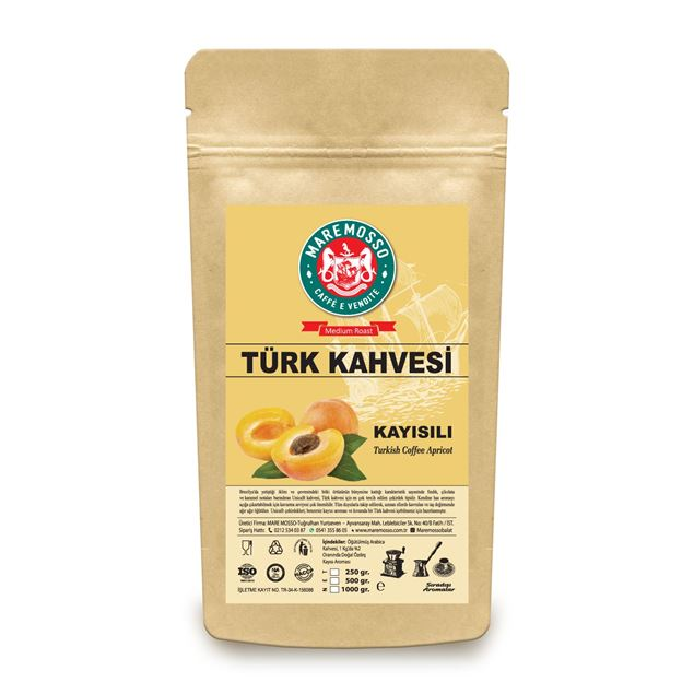 Picture of APRICOT FLAVORED TURKISH COFFEE 250 GR