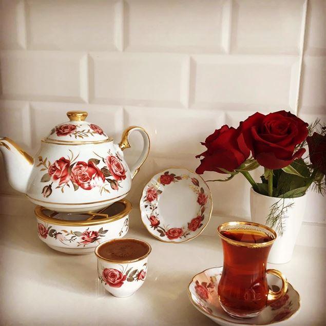 الصورة: طقم شاي وقهوة - 20 قطعة