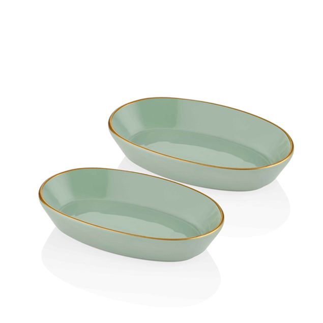Picture of 2 Basic Oval Service Plates Set- 26Cm - The Mia
