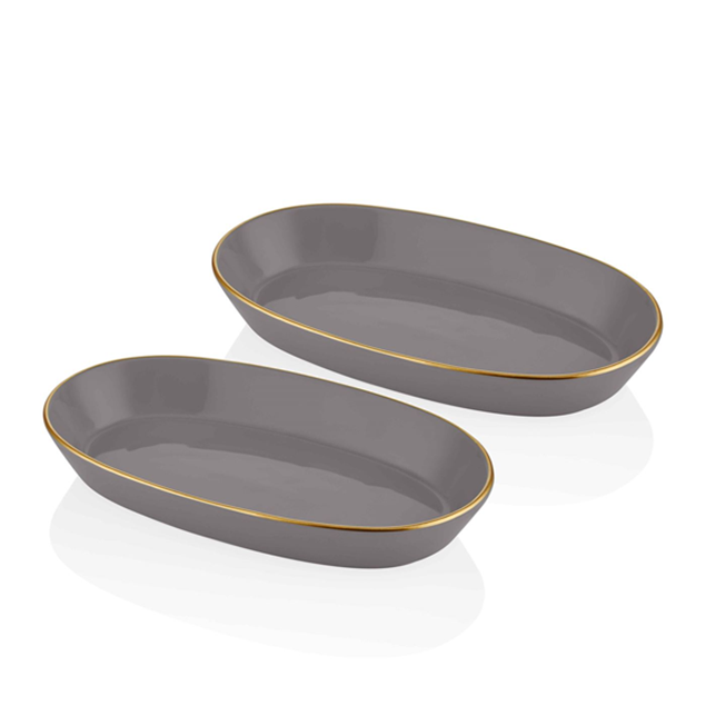 Picture of 2 Basic Oval Service Plates Set- 29 Cm - The Mia