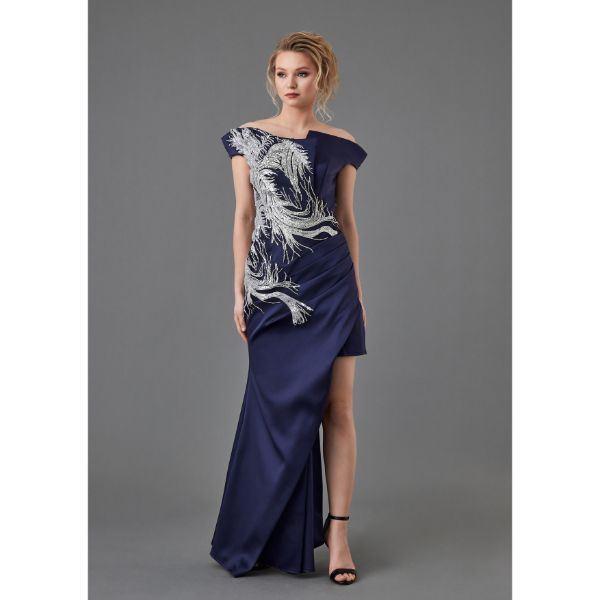 Picture of Off Shoulder Evening Dress