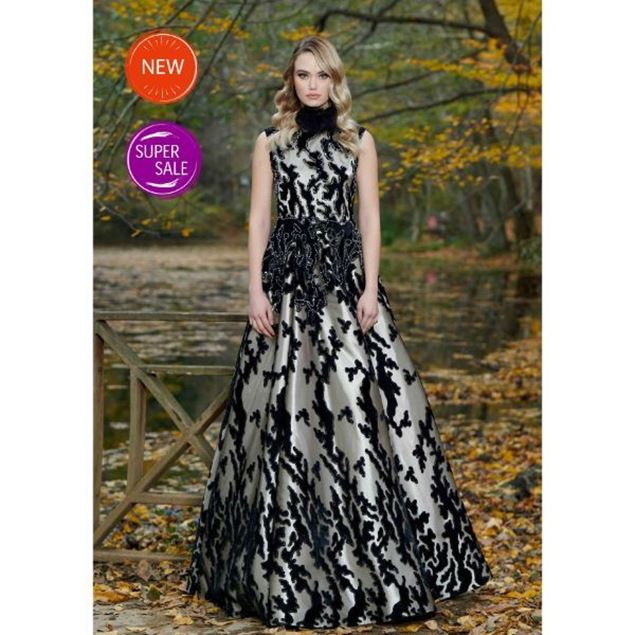 Picture of High Neck Evening Dress