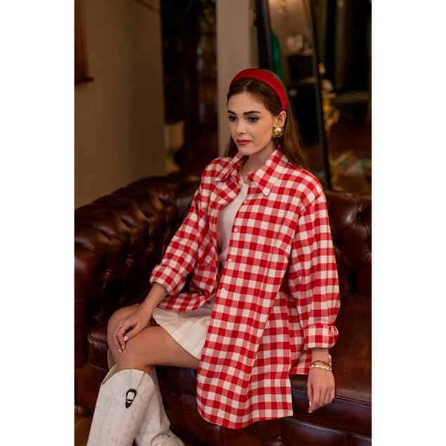 Picture of Long Button Down Blouse - Nillush Vintage
